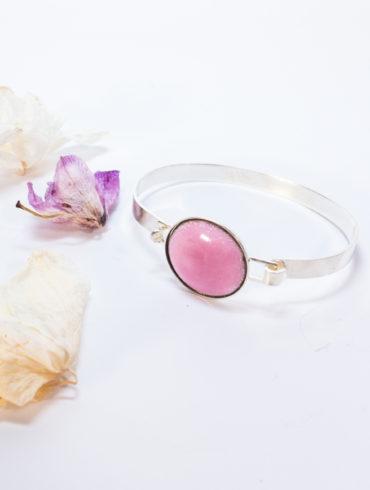 bracelet petit rond rose
