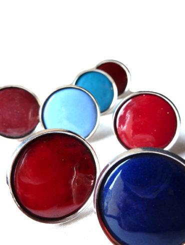 Bague ronde émail couleur