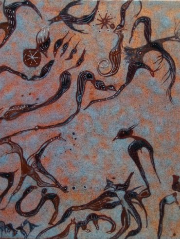 Rencontres plaque émail peint Béatrice Perget