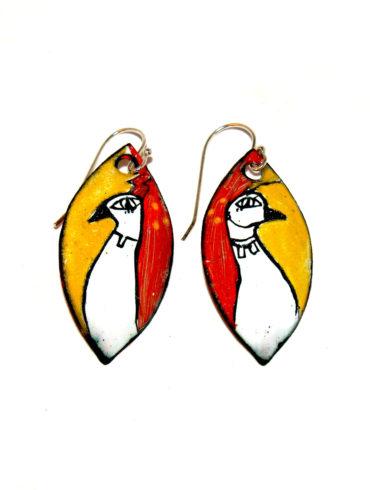 Boucles d'oreilles collection «les couples à plumes»