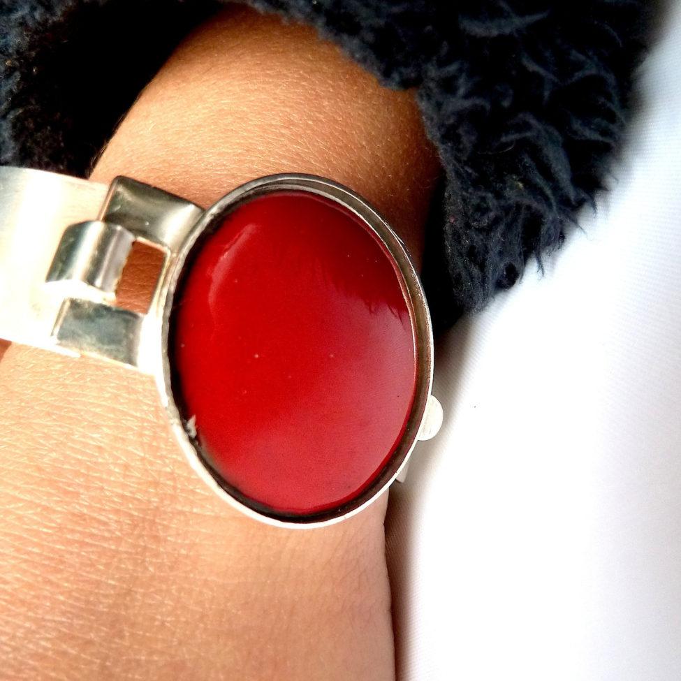 rouge bijou bracelet. Pièce unique