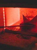 La cuisson d'un émail. 800°C Boutique Au fil d'émaux Béatrice Perget