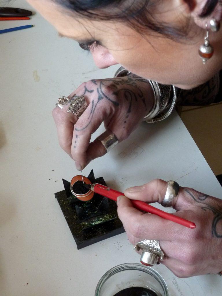 atelier d'émaux sur cuivre initiations