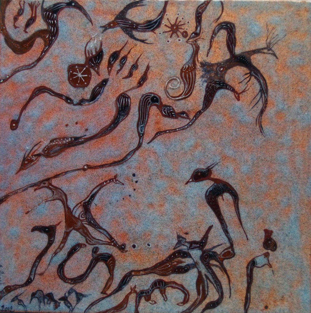 Tableau émail peint Bétarice Perget au fil d'émaux