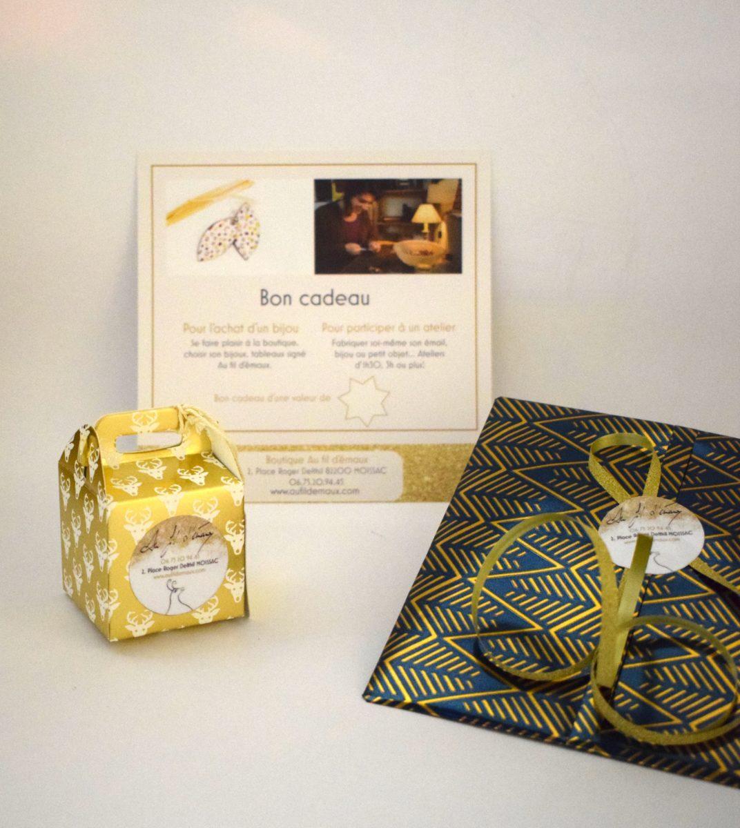 Bon cadeau pour offrir un atelier bijou