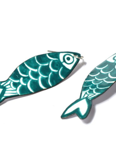 Sardine-au fil d'émaux-boucles d'oreilles-earrings-madeinmoissac-Artisan-d'art