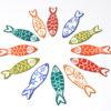 Sardines en émail, boucles d'oreilles originales et amusantes colorées Au fil d'émaux, boutique Atelier basée à Moissac, Tarn et Garonne, Occitanie, France.