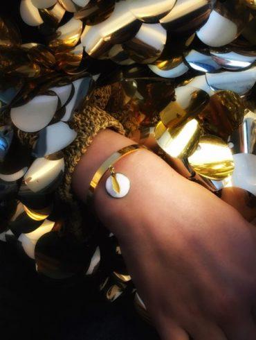 Bracelet joncpampille émail