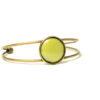 Bracelet vert clair et bronze ajustable