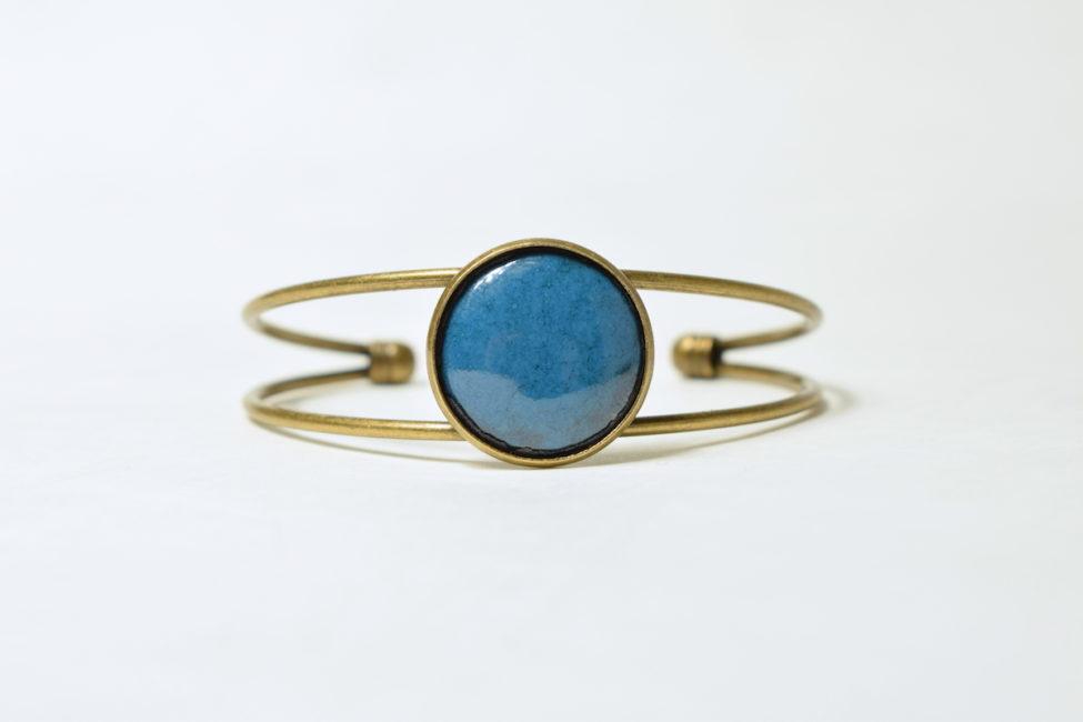 Bracelet réglable bleu bondi