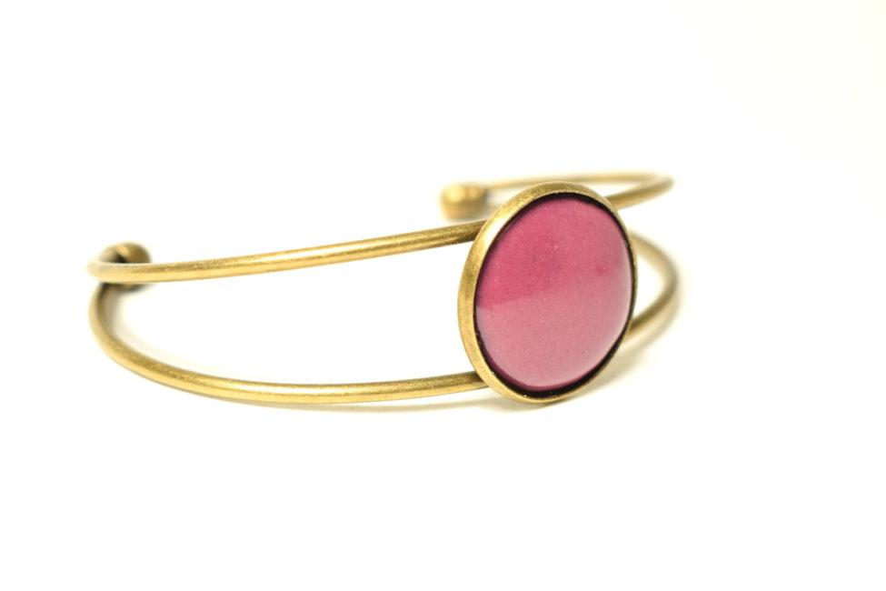Bracelet réglable pourpre et bronze