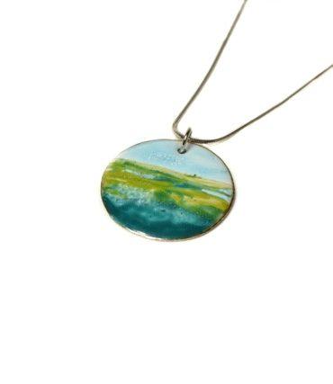 collier-paysage-vert-bleu-argent-emaux-aufildemaux