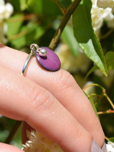 bague-pampille-emaux-violet-argent-massif-reglable-bijou-createur-occitanie
