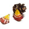 Boucles d'oreilles ginkgo ailes de papillon