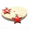 Boucles d'oreilles petites étoiles rouges en émail
