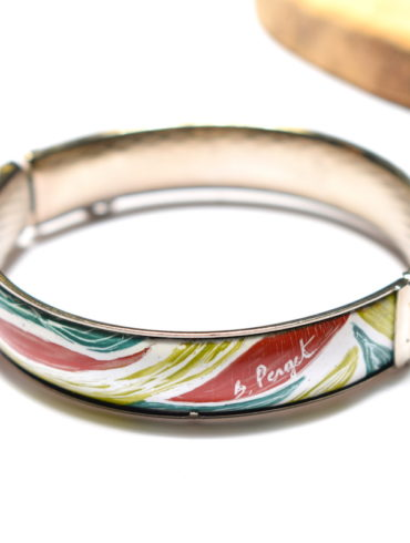 bracelet-monture-motif-nature-vert-rouge-blanc-emaux-art-creatrice-beatrice-perget-moissac