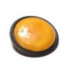 Broche ronde sertie en émail jaune transparent