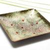 Coupelle carrée sur cuivre aux couleurs colorées