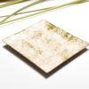 Coupelle émaillée sur cuivre de couleur blanche-marbrée