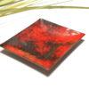Coupelle émaillée sur cuivre couleur rouge vif