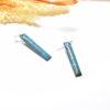 Paire de boucles d'oreilles rectangles bleu bondi