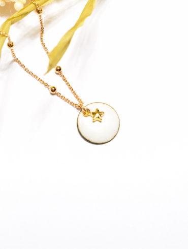 médaille-petit-rond-etoile-or-bijou-blanc-emaux-creatrice-occitanie-aufildemaux-perget-art