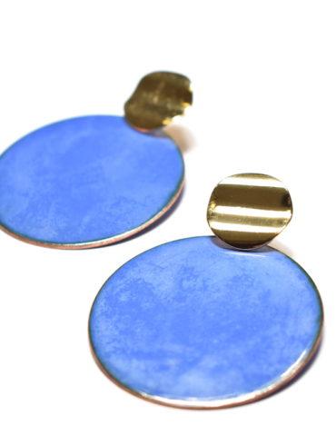 boucles-oreille-emaux-bleu-garden-party-aufildemaux-creation-elegance